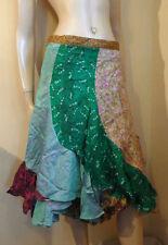 Calf Length Viscose Hippy, Boho Floral Skirts for Women