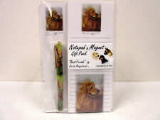 New Golden Retriever List Pad Note Pad Magnet Pen Stationery Gift Pack RGO-7