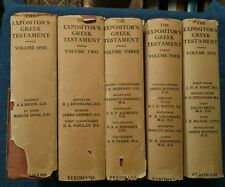The Expositor's Greek Testament 5 Volume Complete Set by Robertson Nicoll w/DJ