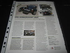 Donkervoort S8 AT 1991 Article reg no H710YYN