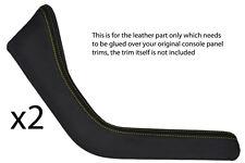 Yellow Stitch accoppiamenti BMW Z3 95-03 2x tagliare pannelli in pelle copre soltanto bisogno di COLLA