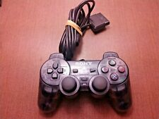 Sony PlayStation 2 Smoke Grey Dualshock Controller OEM SCPH-10010 Tested