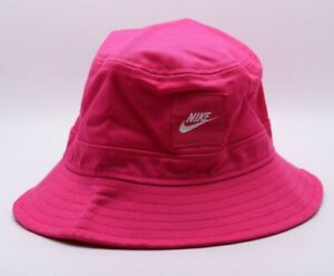 NIKE SPORTSWEAR 100% COTTON BUCKET HAT PINK CZ6125-615 KIDS BOYS GIRLS YOUTH S/M