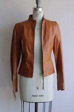 Patrizia Pepe Leather Jacket, Tan, Size 42