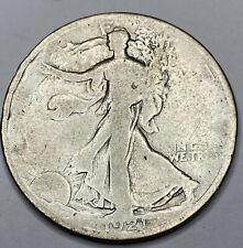 Key Date 1921 Walking Liberty Half Dollar #111