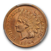 1894 1C Indian Head Cent PCGS MS 64 RD Uncirculated Red Better Date US Coin