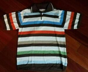 THE CHILDREN'S PLACE BOY'S STRIPED S/S KNIT SWEATER POLO SHIRT ~ L (10/12)