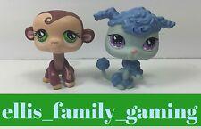 Littlest Pet Shop LPS Lot Portable Pets Monkey #590 Poodle #591