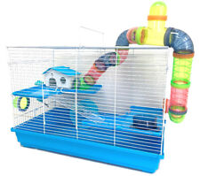 Large 3-Floors Hamsters Habitat Home Tube Cage Rodent Gerbil Mouse Mice Rats