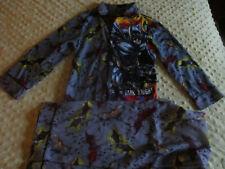 Dc Comics Boys The Dark Knight Rises Batman Flannel Sleepwear Pajama Set Size 6