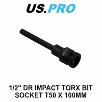 "US PRO Tools 1/2"" DR Impact Torx Bit Socket T50 X 100MM 3330"
