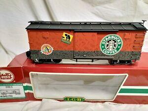 LGB g scale Starbucks wagon 49670