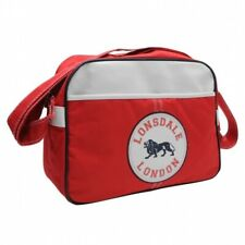 mens ladies red flight bag sports shoulder messenger school college gym LONSDALE