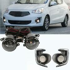 Front fog lamp w/Bulb Switch Cable Bezel For Mitsubishi Attrage Mirage G4 12-20