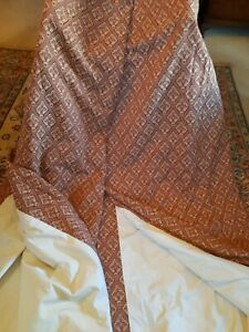 """Fabulous Russet And Cream Heavy Tapestry Curtains 122""""w x 95""""d"""