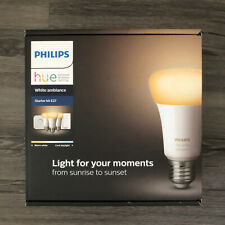 Philips Hue White Ambiance E27 Starter Kit With 3 Bulbs,Hue Bridge & Dimmer