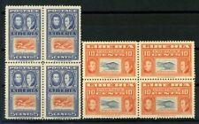 Liberia 1952 Mi. 436-437 MNH 100% Block of four Ashmun Blocks of four