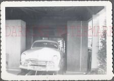 Vintage Car Photo 1951 Ford Automobile in Car Wash 748293