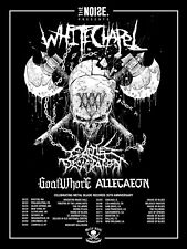"Whitechapel / Goat Whore ""Metal Blade 35th Anniversary Tour"" 2017 Concert Poster"