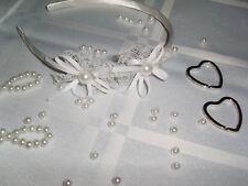 Haarreif Diadem weiß Spitze Haarschmuck Blumenmädchen Kommunion Hochzeit Taufe