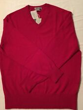 Daniel Cremieux Men's 100% Cashmere Sweater, Red, Size LG & XLG  NWT