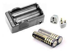 2x 3.7V 18650 Li-Ion Batería y Cargador Recargable 4000mAh Linterna Antorcha para