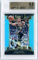 2018  Panini Select Trae Young RC Light Blue Prizm /299 Rookie PSA 10 GEM MINT