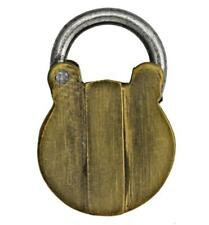 More details for antique brass miniature trick padlock for dog collars - victorian - ref.p510