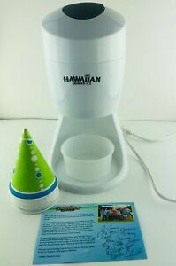 Hawaiian Shaved Ice Maker Machine with Round Cup Mold & 14 Cones Holders