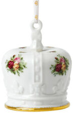 ROYAL ALBERT OLD COUNTRY ROSES 'CROWN' HANGING CHRISTMAS TREE ORNAMENT - NEW