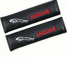 Car Seat Belt Cover Shoulder Pads Cushion For JAGUAR Embroidered Carbon Fiber