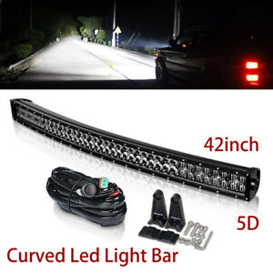 """5D Curved 42IN LED Work Light Bar 400W for UTV Jeep Truck Dual Row 42"""" 40"""" 32"""""""