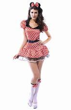 Minnie Mouse Disney Dress Red White Polka Dot Tutu Halloween Costume M 8114