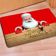 Christmas Santa Decor Rug Floor Mat non-slip area bathroom bedroom carpet door