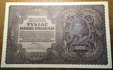 POLOGNE GRAND BILLET DE 1000 MAREK 1919 (BILL 14)