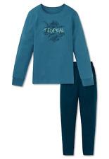 SCHIESSER Jungen Pyjama Schlafanzug lang XS S M L 140-176 100%25 CO Nachtwäsche