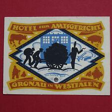 A  Top Notgeld Stadt Gronau , Hotel Zum Amtsgericht , 1 Mark,  fast  kfr