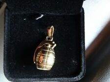 Brand New Sterling silver & 18ct Gold Hand Grenade Pendant