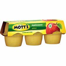 Mott's Apple Sauce Original 6 Cup - 4 oz (113g) Total 24oz- (678g)