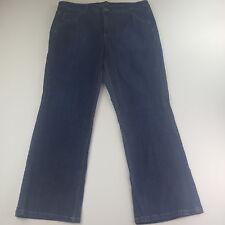 Gloria Vanderbilt Women Plus Sz 18W Blue Denim Jeans Pants Stretch Straight Cut