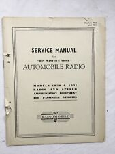 HMV Smiths Radiomobile Car Radio Original Service Manual Models 4030 4031