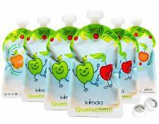 Lot 6 Gourdes Reutilisables Compote Puree Sans BPA Lavable Lave Vaisselle Enfant