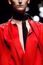 PRADA F/W 2014 RUNWAY Black Silk Skinny SCARF ~NWT~
