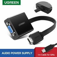 Ugreen Active HDMI to VGA Adapter with 3.5mm Audio Jack, Micro USB Power Port