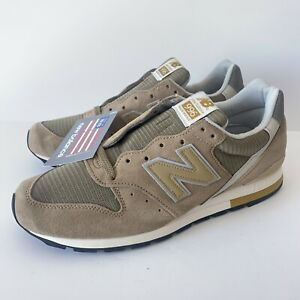 New Balance 996 x J.Crew Sneakers M996JC5 Taupe Gold Made in USA - Men's Sz 11.5