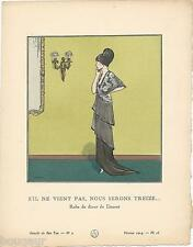 Jacques DRESA Pochoir Art Déco ORIGINAL N°2 pl. 16 fév 1914 GAZETTE DU BON TON
