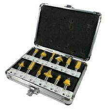 12pc Router Bit Set Tungsten Carbide Tip TCT  With 1/2 Shank Cutter and Case