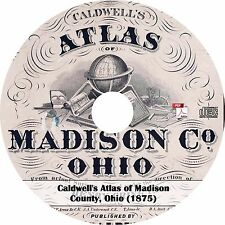 1875 Atlas of Madison County, Ohio - Plat Maps Book on CD
