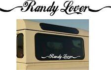 Randy Lover Sticker-Land Rover Range-Defender/Discovery/Freelander Car Sign