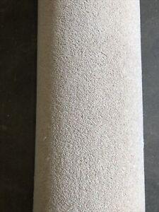 3.70x4m Carpet Remnant 80/20 Wool Tomkinson Twist Ultimate Light Beige